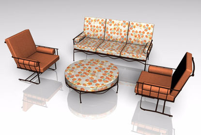 Picture of Upscale Patio Furniture Models FBX Format