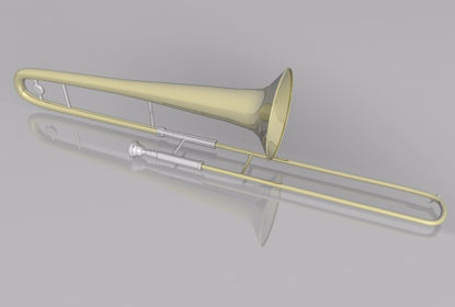 Picture of Trombone Instrument Model FBX Format