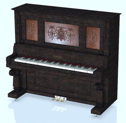 Picture of Upright Piano Model Poser Format