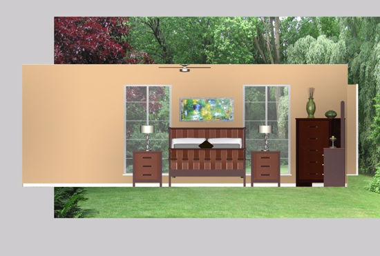 Picture of Upscale Bedroom Environment FBX Format
