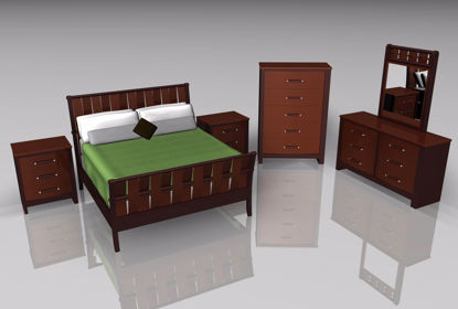 Picture of Upscale Bedroom Furniture Models Poser Format