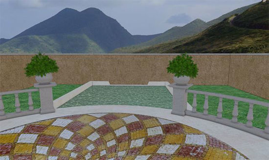Picture of Upscale Veranda Environment Poser Format