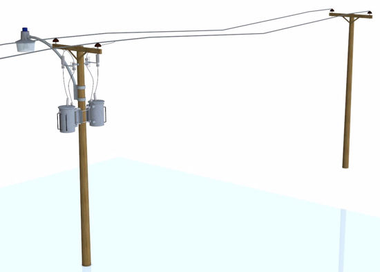 Picture of Utility Poles and Light Models FBX Format