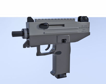 Picture of Uzi Machine Gun Model Poser Format