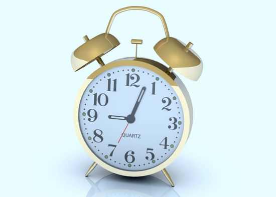 Picture of Vintage Alarm Clock Model Poser Format