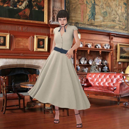 Picture of Vintage and Classic Dress for DAZ Victoria 4