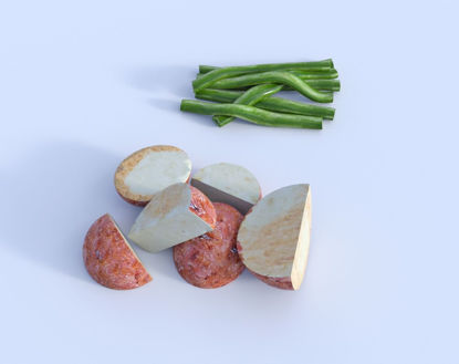 Picture of Vegetable Portions Model Set 1 Poser Format