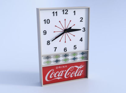 Picture of Vintage Cola Wall Clock Model FBX Format