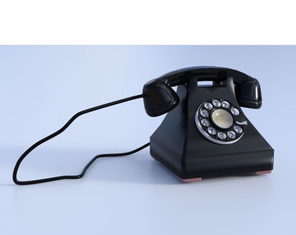 Picture of Vintage Dial Phone Model Poser Format