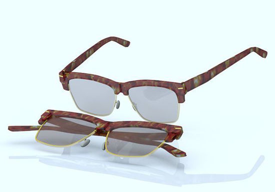 Picture of Vintage Eyeglasses Model for All Poser Figures Poser Format