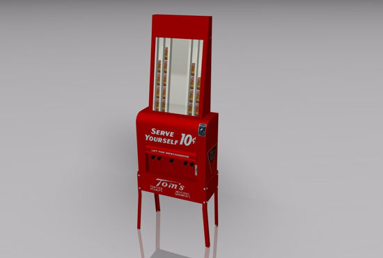 Picture of Vintage Peanut Vending Machine Model FBX Format