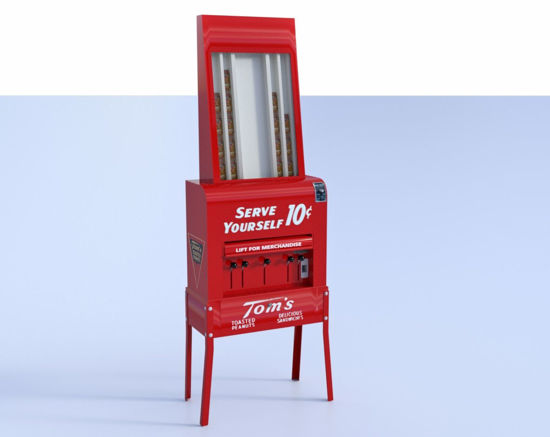 Picture of Vintage Peanut Vending Machine Model Poser Format