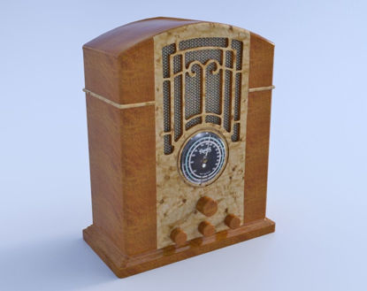 Picture of Vintage Radio Model FBX Format