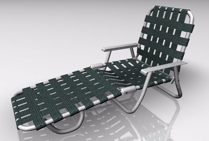 Picture of Webbed Lounge Chair Furniture Model FBX Format