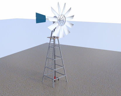 Picture of Windmill Model FBX Format