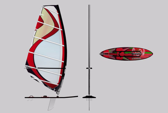 Picture of Windsurfer Board Model FBX Format
