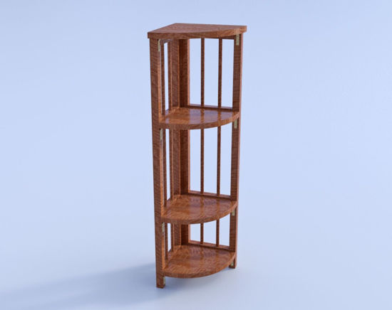 Picture of Wooden Corner Shelf Model Poser Format