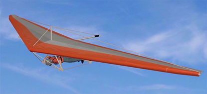 Picture of Hang Glider and Helmet Models Poser Format