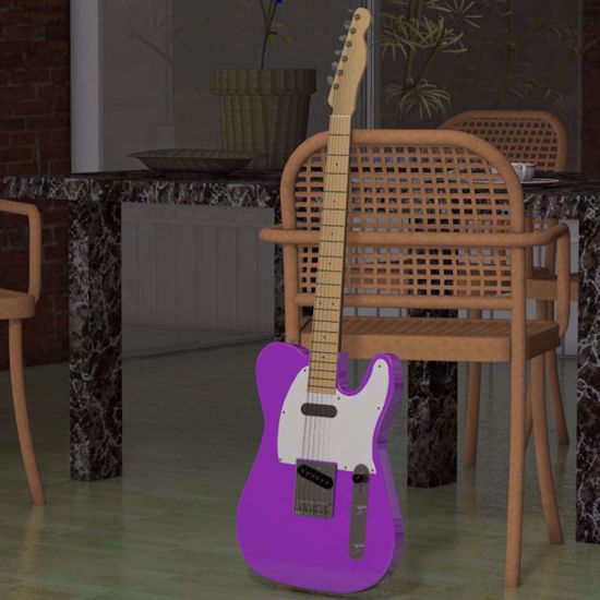 Picture of Left-Handed Telecaster Guitar Model Poser Format