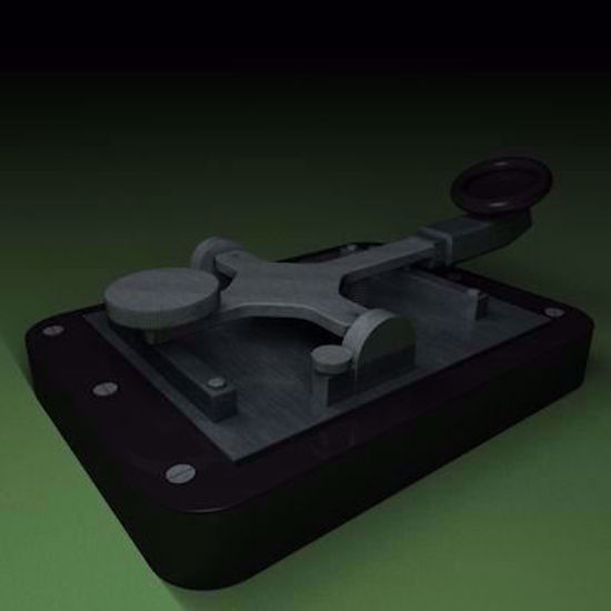 Picture of Morse Code Key Set Model Poser Format