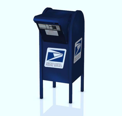 Picture of US Post Office Mailbox Model Poser Format