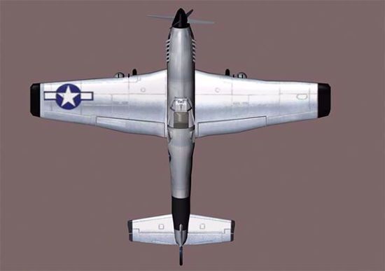 Picture of P-51 Mustang Fighter Plane Model Poser Format