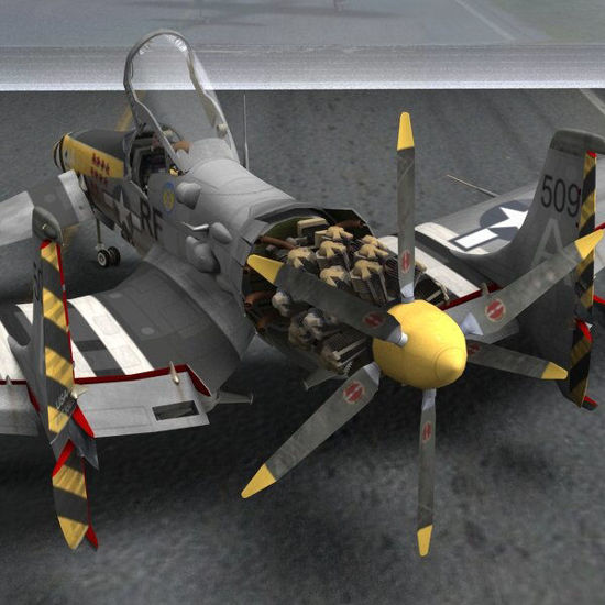 P-58 Stallion Aircraft (for Poser)