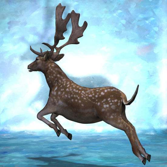 Fallow Deer, Jumping Pose (Figure for Poser)