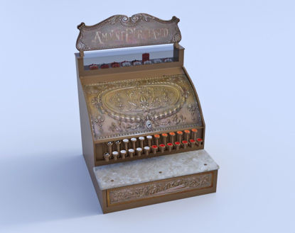 Picture of 1800's Cash Register Model with 51+ Movements Poser Format