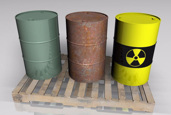 Picture of 55 Gallon Drums and Pallet Models FBX Format
