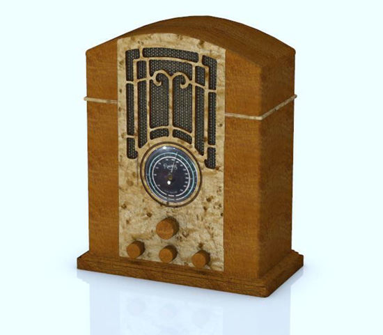Picture of Antique Radio Model Poser Format