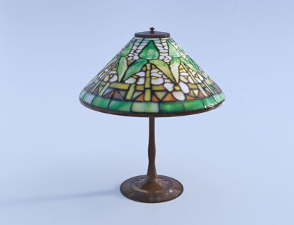 Picture of Antique Tiffany Lamp Model FBX Format