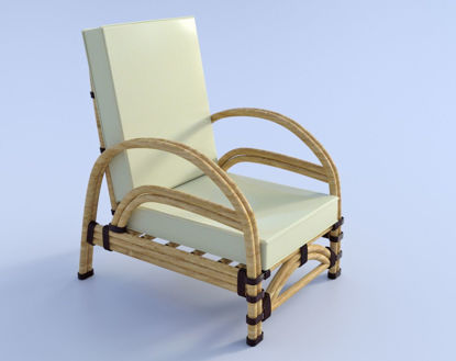 Picture of Art Deco Lounge Chair Model Poser Format