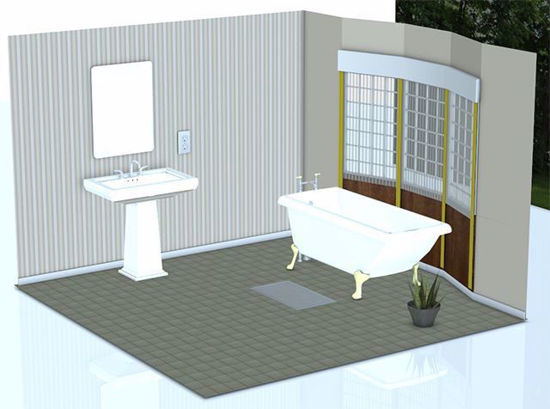 Picture of Bathroom Environment with Removable Walls Poser Format