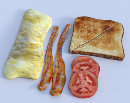 Picture of Breakfast Food Model Set 3 Poser Format