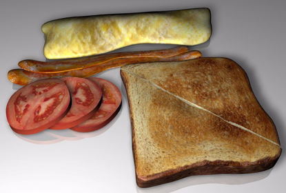 Picture of Breakfast Food Models Set FBX Format