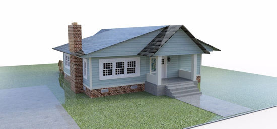 Picture of Bungalow House FBX Format