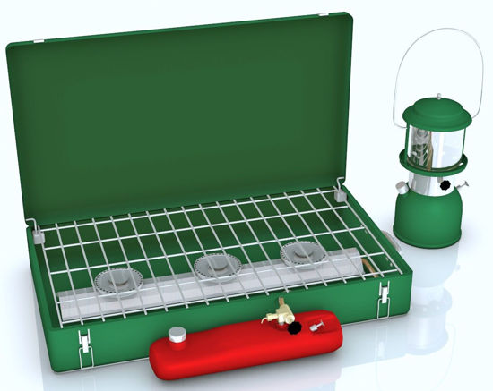 Picture of Camping Stove and Lantern Models Poser Format
