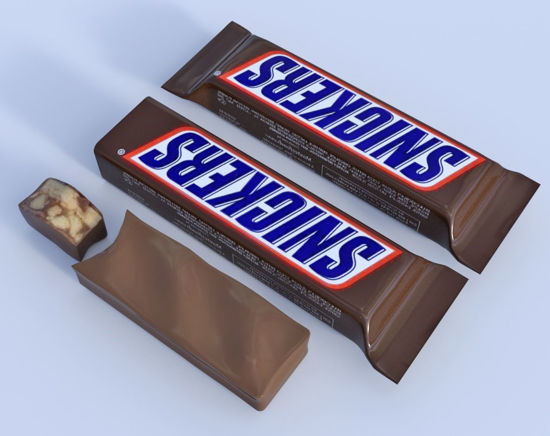 Picture of Candy Bar and Wrapper Models Poser Format