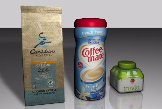 Picture of Coffee Bag and Condiment Container Models FBX Format