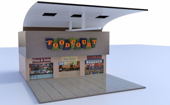 Picture of Complete Shopping Mall Environment FBX Format
