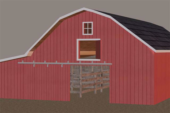 Picture of Farm Barn Model Poser Format