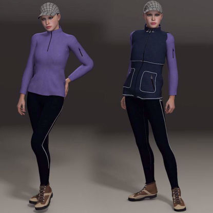 Picture of Hiking Outfit for DAZ Victoria 4