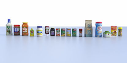 Picture of 17 Food Product Models Bundle Poser Format