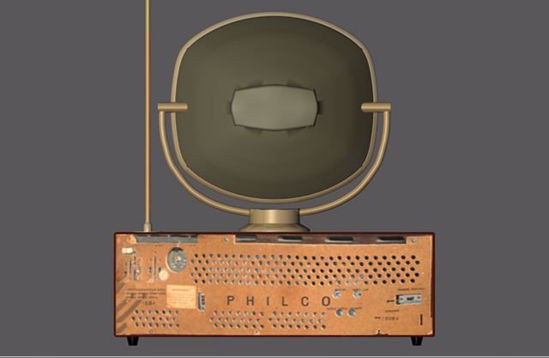 Picture of 1950 Predicta TV Set Model Poser Format