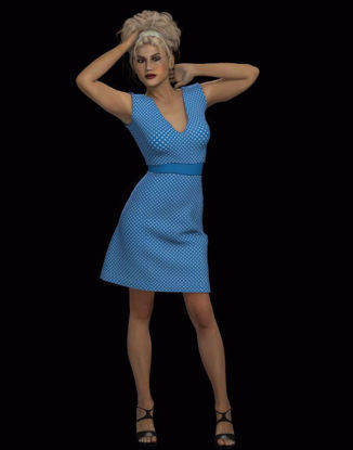 Picture of 1950's Style Belted Dress for Hivewire3D Dawn Figure
