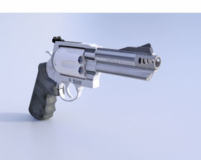 Picture of 357 Magnum Pistol Model Poser Format