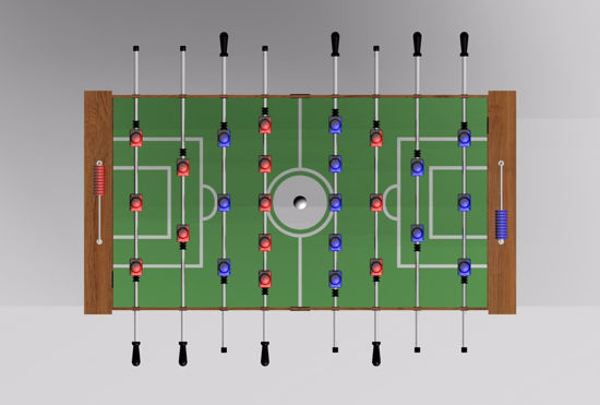 Picture of 3D Foosball Table Furniture Model FBX Format
