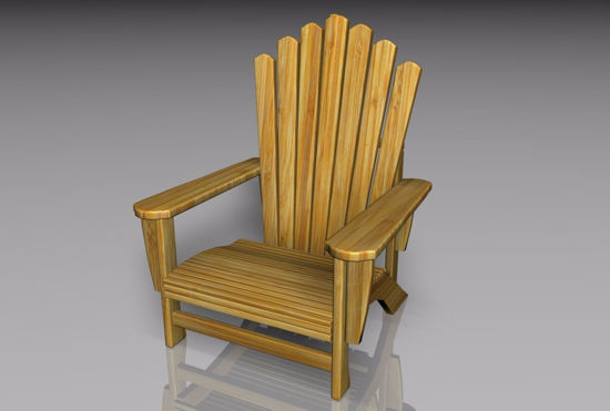 Picture of Adirondack Chair Furniture Model FBX Format