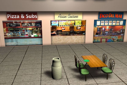 Picture of Mall Food Court Environment FBX Format